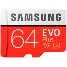 Карта Памяти Samsung microSDHC 64GB EVO Plus