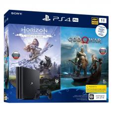 Sony PlayStation 4 Pro Black 1Tб (Ростест) + Horizon Zero Dawn CE + God of War