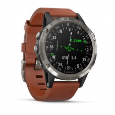 Garmin D2 Delta Aviator / Brown Leather Band
