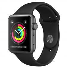 Apple Watch S3 42mm Space Gray Aluminum / Black Sport Band